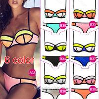 Newest Sexy Women's Bandage Halter Push-Up triangle Bikini Set Women's Swimwear Swimsuit Beachwear