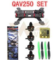 WST DIY 3K Carbon Fiber Mini Q250 FPV drones Quadcopter frame kit+100% Original EMAX MT2204+Simonk 12A Esc+cc3d Flight Control