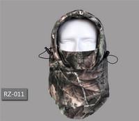 1pc/lot Winter Thermal Camouflage Fleece Warm Neck Mask Balaclava Motorcycle Wind Ski Cap Hats Snowboard Full Mask PA672889
