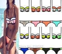 Sexy Women's Swimsuit Women Neoprene Bikini Set triangle swimwear Bikini Beachwear