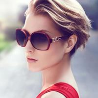 2015 New fashion 8 colors women bicyclo sign sunglasses brand design summer big round frame eyewear uv sun glasses