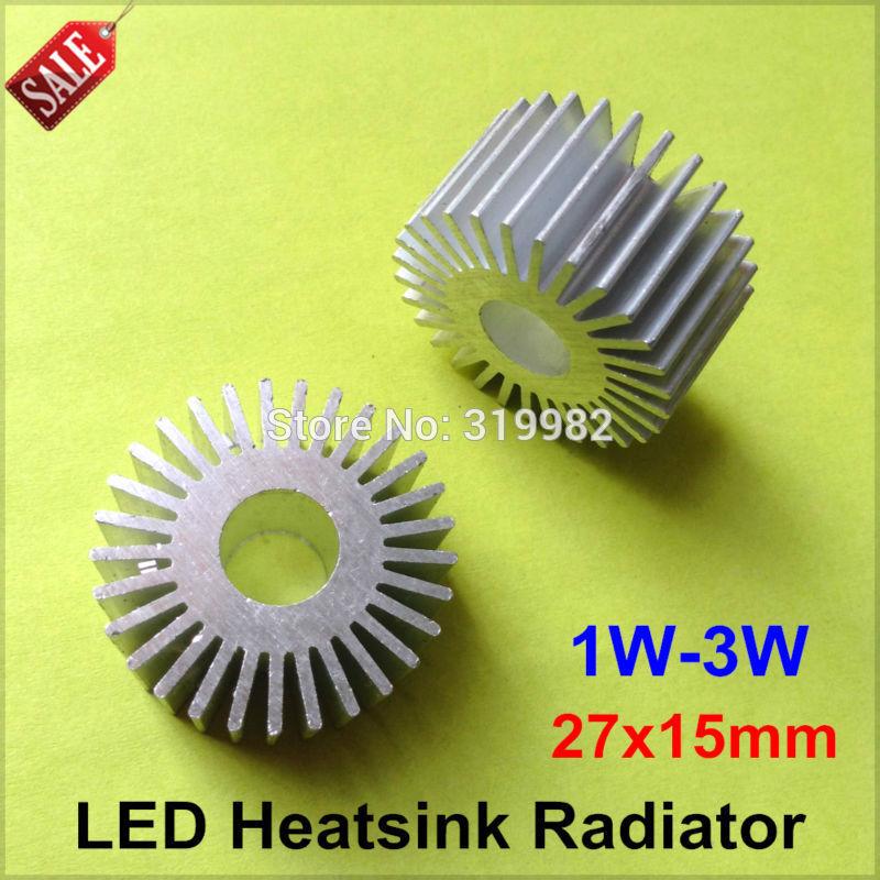 Светодиод KP 50pcs/lot 1W 3W DIY dissipador calor PCB LED Radiator diy 16mm 1w 3w 5w led pcb boards 65 pack