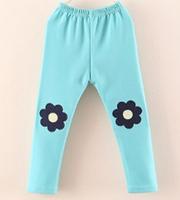 2015 spring winter children's pants Girls legging long trousers flower leggings kids