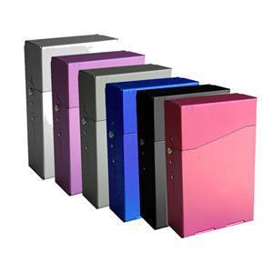 New Fashion Aluminum Metal Cigar Cigarette Box Brand Cigarette Holder Tobacco Storage Case Gift(China (Mainland))