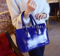 2015 new handbag shoulder bag Messenger bag bright skin glossy red fashionable bag woman bag free shipping