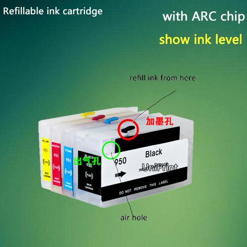 все цены на Картридж с чернилами UNIPRINT HP 950 951 8100 8600 8610 8620 8680 8615 8625 for hp950 онлайн