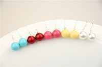 925 Sterling Silver with Shell Bead Earrings, 8mm, 4 Color (White, blue, yellow, maroon)  Women Accessories Earrings SE0015