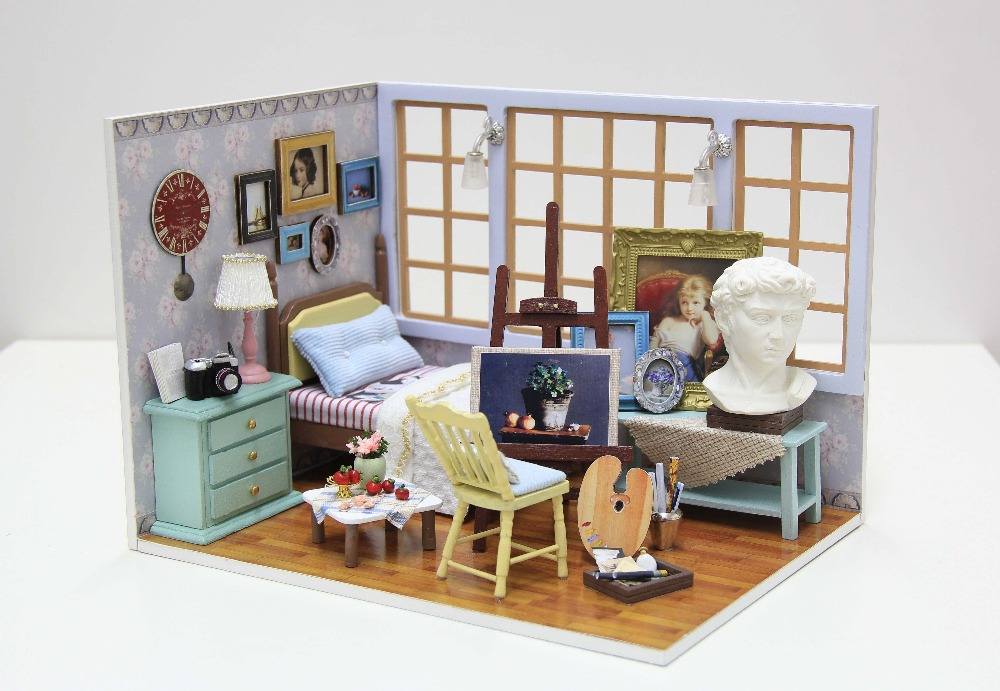 Creative Wooden Toy DIY House --- Best of Times, Furniture Dollhouse Toy For Gift(China (Mainland))