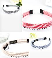 Brand New Classical Striped Headdress hairpins clips strings headband women barrettes HY73