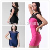 New party dress mini for women cocktail hollow out vestido de renda 2015 party mini sexy  plus size  dress mesh bodycon  H1356