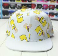 snapback hat for man and woman Cute Simpson Bart Print Hats Casquette Snapback Strapback Women Men Caps Baseball Cap  New Market