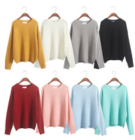 New Asymmetrical Women Knitted Sweaters And Pullovers 2015 Fashion Blusas De Croche Femininas Warm Winter Candy Color Sweaters