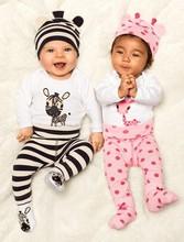 2015 New Fashion Carters Baby Boy Clothing Set (Romper+Hat+Pants) Infant Newborn Baby Girls Clothes Suit Roupas De Bebe jumpsuit(China (Mainland))