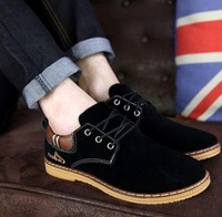 Spring&autumn men's casual dress shoes moccasins leather sneakers for boys plimsolls Free Shipping