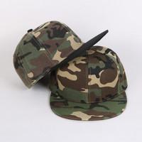 Fashion light board spell color cap hip-hop brimmed hat  baseball cap skateboard tidal cap Camouflage  cap  Z4068