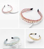New Style Fashion Pretty Headwear Imitation Pearl Wave Hairpin Hair Band Headband HY70