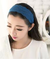 New 2015 Sexy Women Lace Flower Headbands Girls Elastic Headband Head Band Hair Accessories Headwear Headwraps HY69