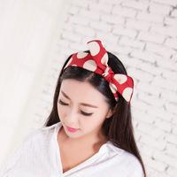 Women Girls Korean Fashion Bow Headband Hairband Elegant Hair Bands Holder Hoop 5 Colors Selling HY62