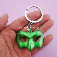 Green Lantern EYE Face Mask Charm Keychain & Keys Ring Pendant Collection Wholesale