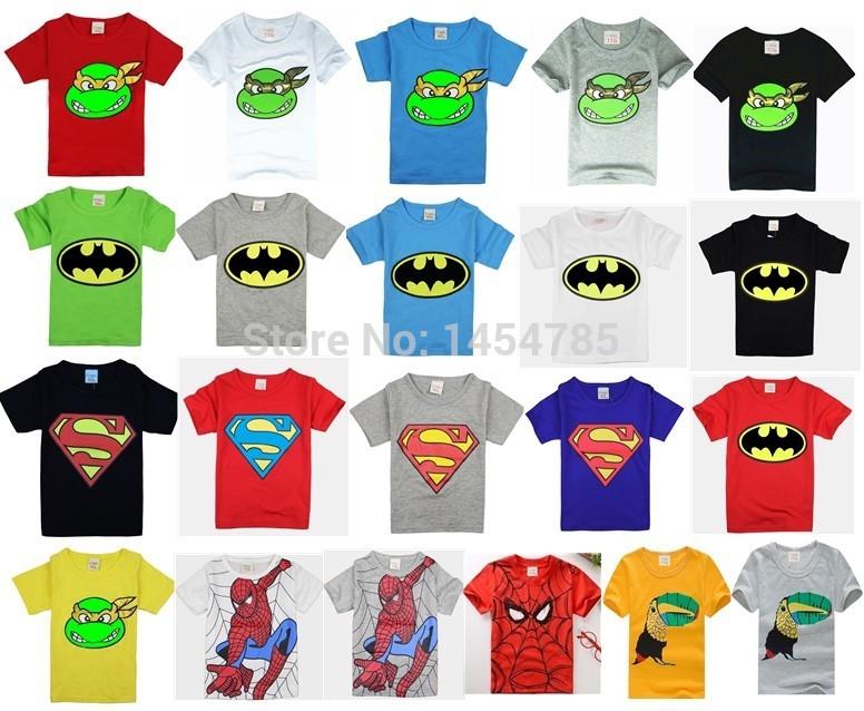 HOT 2015 New!children clothes boys girls unisex t shirt cartoon children t-shirts 100% cotton children's t-shirt(China (Mainland))