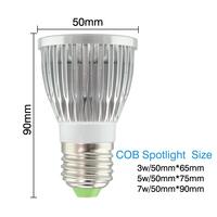 E14 Base Lamp LED Spotlight Bulbs 110-240V Voltage 3W 5W 7W High Power LED Bulbs Aluminum Alloy Material Hot Sale MDLSP-1-004