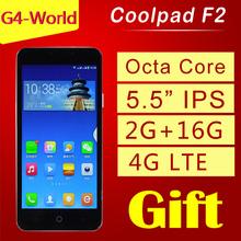 "Original Coolpad F2 8675 4G LTE Cell Phones Android 4.4 Octa Core 5.5"" IPS 1280×720 Screen Dual camera 13.0MP 2GB RAM FDD LTE"