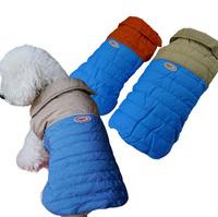Leisure Winter Dog Vest 2015 New 2 Colors Stitching Large Medium Small Dog Clothes Vest XS - XL Waterproof Nylon Pet Warm Jacket