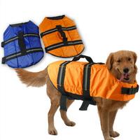 Waterproof Large Dog Vest Hot Pet Cat Dog Clothing Life Jackets Swimming Vest Rescue Dog Clothes Size S -XL Blue Coat and Jacket