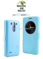 Special offer! 20pcs For for LG G3 S, G3 Beat, G3 Vigor, D722,D724,D725, D728 Nillkin flip cover leather case, Fresh Series