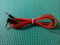 3.5 mm To 3.5mm Aux Cable Plug Male to Male Earphone Audio Cable for iPhone Samsung 1M Red