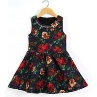 2015 Summer Girls Rose Dress Children Baby Princess Dress Kids Clothes Free Shipping 5PCS