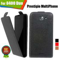 New items 100% Special Case PU Leather Flip Up and Down Case + Free Gift For Prestigio MultiPhone 8400 DUO