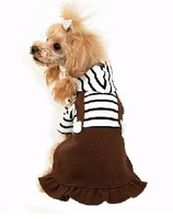 European campus style pet clothing,puppy dog striped dress Spring summer free shipping