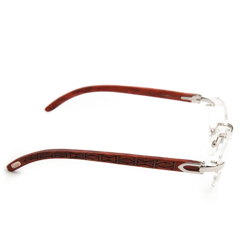 Eyeglass Frame Identification : Rimless Glasses Frame, wooden Glasses Frames For Men ...
