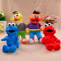 "Sesame Street Large Stuffed Plush Toys Figure 12-13"" Elmo Cookie Monster Bert and Ernie  Baby Sesame Plush Doll Party Supplies"