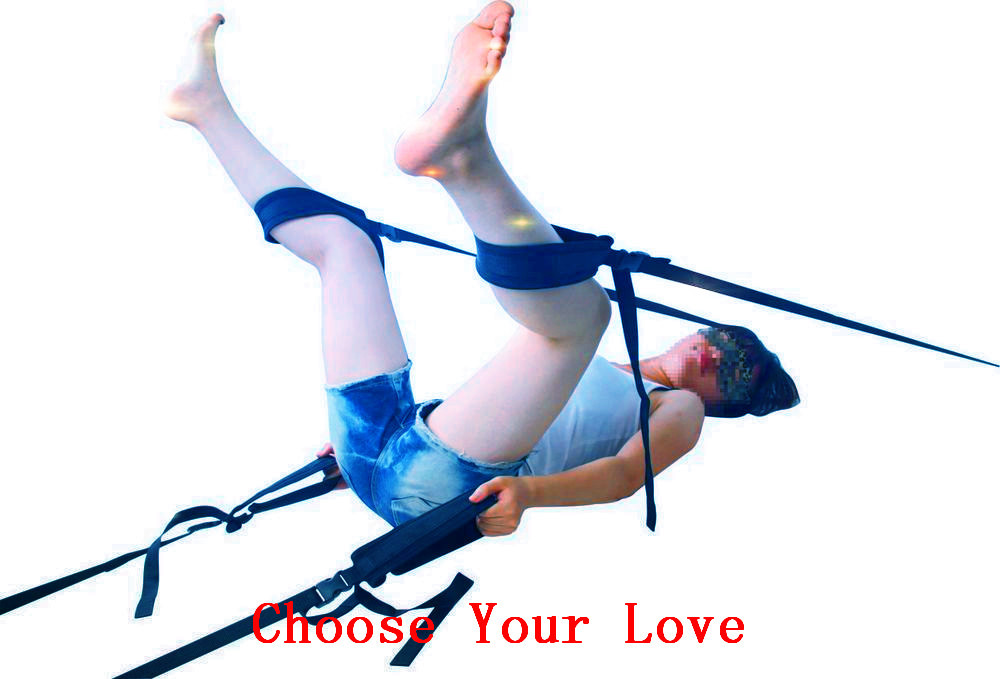 2015 Hot New Real Leather Black Bed Sexy Swing Limbs Hogtie,sex Products Adult Game For Couples Flirting Toys Sex(China (Mainland))