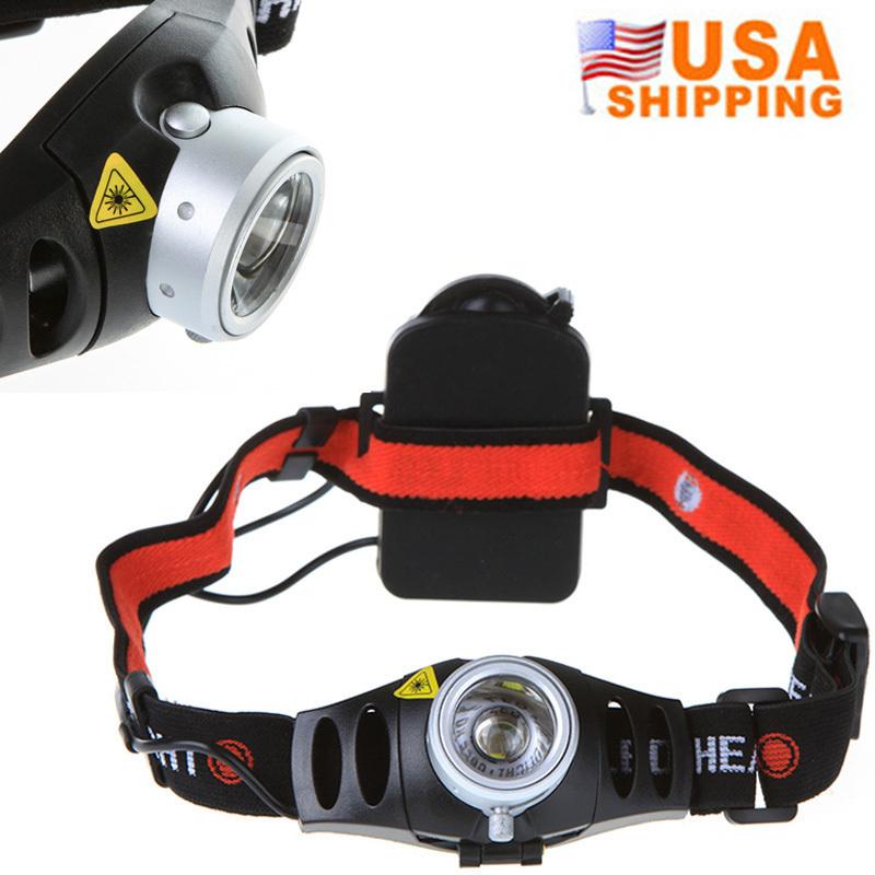 US Stock to USA CREE Q5 500 Lumen Ultra Bright LED Headlight Outdoor Camping Headband Zoomable Headlamp Bike Fishing Head light(China (Mainland))