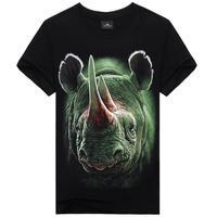 Rhino Animal Print Mens Casual t-shirt Tops Short Sleeve Shirt Tee for man L XL XXL xxxl