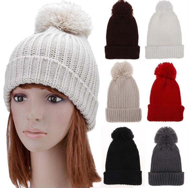 new fashion hot woman warm winter fur crochet knit hat Beret ski beanie hat Top pompon Lower part of a decorative edge sv011828(China (Mainland))