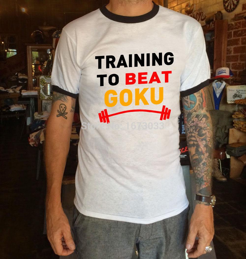 Top Quality The Dragon Ball Z T Shirt Training To Beat Goku Shirt Krillin Casual Fashion Short Sleeve T-shirt Tee Camiseta(China (Mainland))