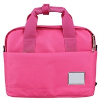 Polyester patchwork handbag portable computer cross-body 2015 Women's Polyester Fabric Pink Laptop Bags