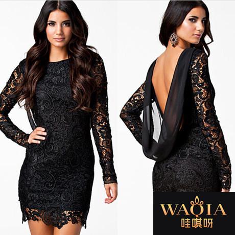 Женское платье WAQIA 2015 chiffion jiont vestidos