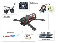 Carbon Fiber Mini QAV250 C250 Quadcopter 1806 Motor BLheli 12A Esc cc3d Flight Control 5030 Prop