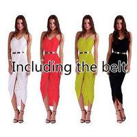 free shipping New Sexy Women Dress Summer Beach Casual Strap Long Sundress dresses Jecksion Plus Size XL