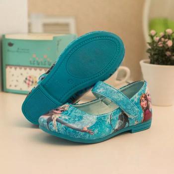 Дети кроссовки новые обувь для девочек 2015 весна ребенка красный синий квартиры детская обувь принцесса обувь для девочек дети PU мультфильм снег обувь