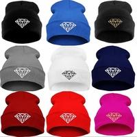 high quality  Beanie hat wool winter warm DIAMOND knitted caps hats for man women hip hop Skullies cool Beanies  Z4077