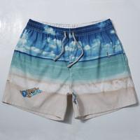 Men's Bermudas beach board shorts sea printed water proof swimwear 2015 new sungas masculinas moda praia surf shorts 2044