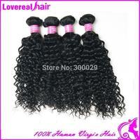 DHL Free 5A Malaysian virgin hair kinky curly 4pcs/ lot Malaysian hair weaves  Natural black hair free shipping human hair