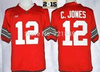 Ohio State Buckeyes  #12 Cardale Jones Ncaa 2015 College Football Playoff Sugar Bowl Special Jersey C.Jones with diamond patch