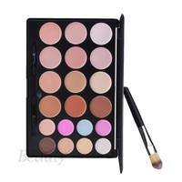 New Fashion Women 20 Colors Make Up Palette Contour Face Cream Makeup Cosmetic Concealer Palette + Powder Brush b4